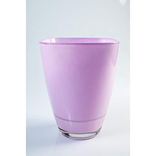 INNA Glas Eckige Vase Yule aus Glas, lila, 17 x 13 x 13 cm - Blumenvase/Tischvase