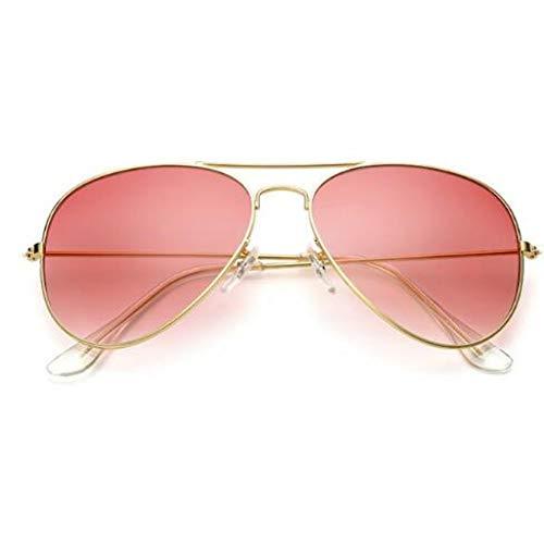 Taiyangcheng Aviator Sonnenbrille Frauen klare Linse weibliche Sonnenbrille photochrome männliche Brille Fahren Schutzbrillen,rot
