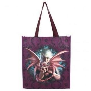Anne Stokes beautiful large shopper bag ('Dragon Kin' Purple)
