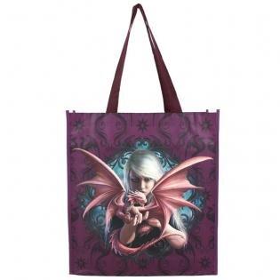 Anne Stokes Hermoso Grande Bolso de la Compra Dragon Kin' Purple 65cm x 35xcm x 10cm