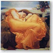Art print 'Flaming June' by Leighton - image size w 70 cm x h 70 cm