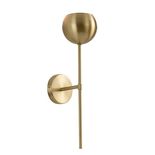 FEE-ZC Wandleuchten Bad Spiegel, Wandleuchte Wandbeleuchtung Bad Spiegel Modern Gold Messing Lampenschirm E14 Sockel Wohnzimmer Bad Flur 110V 220V, Gold -