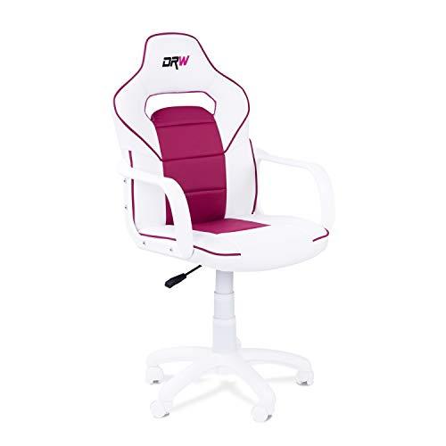 Adec - Silla gaming, sillon de estudio o despacho, modelo gamer DRW, color:...