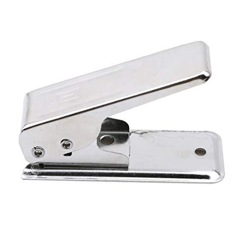 Weryffe Edelstahl Universal Card Cutter Für Telefon Micro SIM Karte Cutter Handy Karte Cut Tool Telefon Zubehör (Silberfarbe) (Cutter Sim Tool)