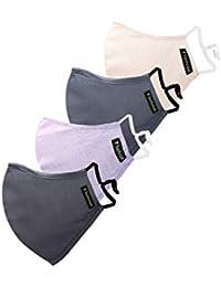 Van Heusen Men's Cotton Face Mask (Pack of 4) (VHMSBRGB076607_Assorted_Free Size)