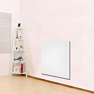 fam famgizmo 600W Electric Wall Mounted Panel Heater Radiator,Paintable White Creamic Surface,IP24 Rated Bathroom Safe,Energy Efficient Convector Heater,Legs & Wall Fittings Included