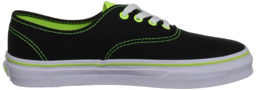 Vans T Authentic, Baskets mode mixte bébé Noir (Neon Pop Blac)