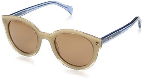 Tommy Hilfiger Damen TH 1437/S UT L6Y 50 Sonnenbrille, Gelb (Yllivry Blu/Brown)