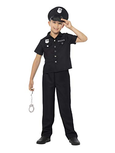SMIFFY 'S New York Cop Jungen Fancy Kleid New York Cops - NYPD Polizist Officer Uniform Kinder Kostüm (mittel)