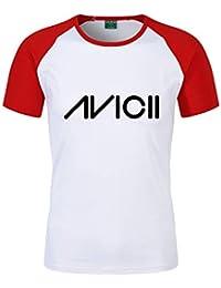 27750156401 DJ Avicii T-Shirts T-Shirt de Loisir Populaire Lettres imprimées col Rond  Top Confortable à Manches…