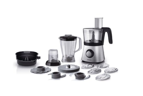 Philips HR7769/00 Robot da Cucina 4 in 1, Multifunzione con Frullatore + Tritatutto + Spremiagrumi, 850 W, Viva Collection -
