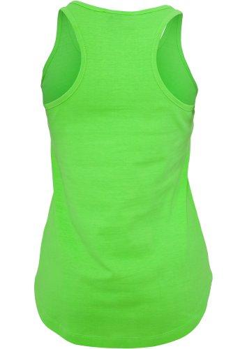 Débardeur Large Fluo Femme Haut Long sans manches 100% Cotton Urban Classics vert fluo