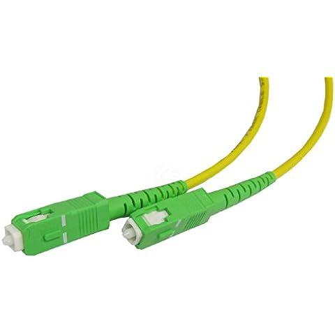 Cablematic - Cable de fibra óptica SC/APC a SC/APC monomodo simplex 9/125 de 30 m