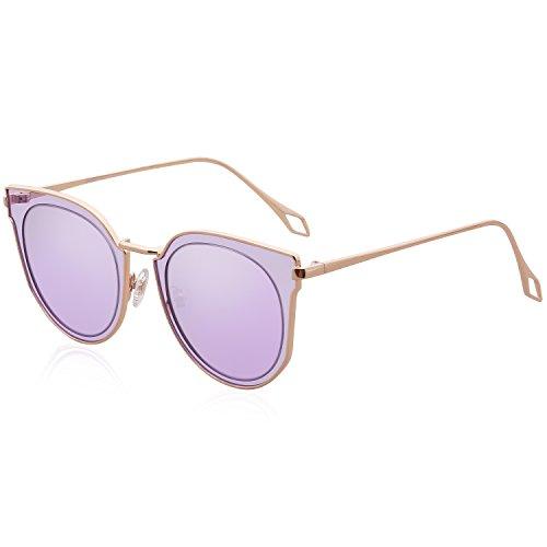 b4388daa18c3 SojoS Fashion Polarized Sunglasses UV Mirrored Lens Oversize Metal ...