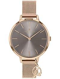 Sara Miller The Charm Collection SA4024 - Reloj con Correa de Malla bañada en Oro Rosa