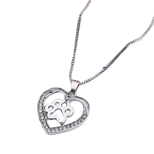 Dorical Damen 925 Silver Halskette/Frauen Love dog claw Pendant necklace Mother\'s Day gift/Mädchen Halskette Anhänger Jewelry Schön accessory Sale(Weiß)