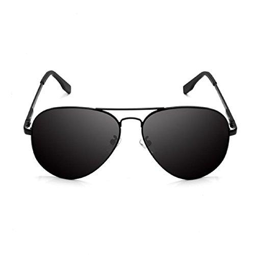 Feililong Prämie Voll Mirrored Pilotenbrille Flieger Sonnenbrille UV400 Schutz Optimal Entwurf Herren und Frauen Aviator Sonnenbrillen (Schwarze Linse / Schwarze Rahmen) (Schwarze Sonnenbrille Aviator)