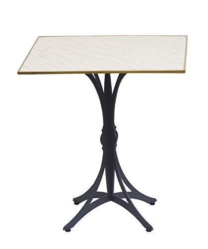 Table Guéridon d'intérieur Bistrot moderne 70x70cm Marbre de Genes Cerclé Laiton