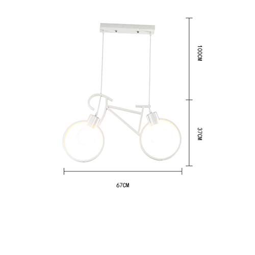 LRZZ Wohnzimmer Kronleuchter, Bar Restaurant Dekoration , Beleuchtete Kreative Persönlichkeit Fahrrad Eisen Kronleuchter Kreative LED Restaurant Bar Bekleidungsgeschäft Fahrrad Shop Kronleuchter Fahr