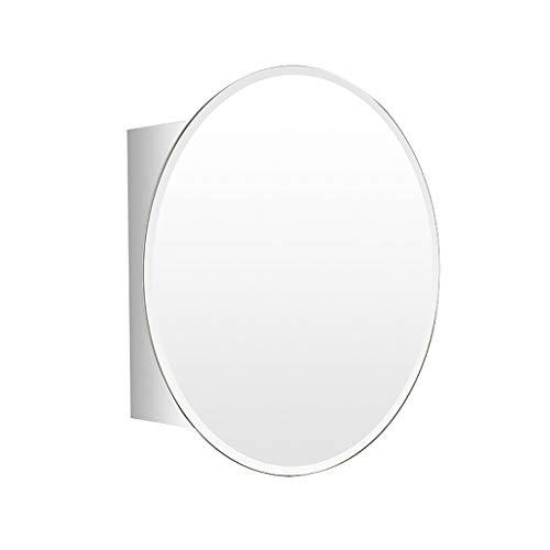 HSRG Ovaler Spiegelschrank des Edelstahls, an der Wand befestigter Schiebetür-Badezimmer-Spiegel-Kabinett-Regal-Schrank-Schlafzimmer-Speicher