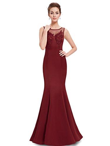 Ever Pretty Robe de soiree Maxi Fishtail Moulante 08358 Rouge