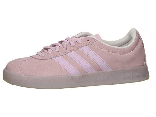 adidas DB1218 VL Court 2.0 Damen Sneaker aus Veloursleder mit flexibler Sohle, Groesse 3,5, rosé