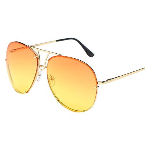 Dorical Sonnenbrille Unisex/Damen Herren Mode Katzenauge Runde Aviator Vintage Brille Metallgestell...