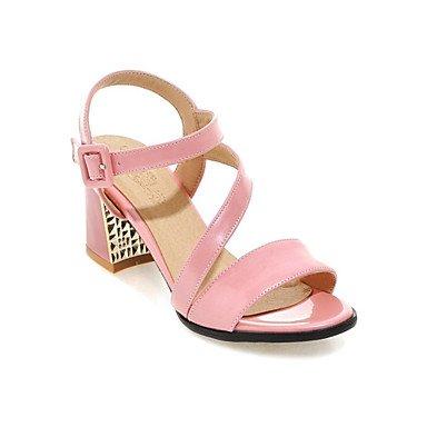 Zormey Sandales Femmes Chaussures Club D'Été Confort Supports Personnalisés Bureau Similicuir &Amp; Robe Carrière Boucle Talon Occasionnels US5 / EU35 / UK3 / CN34
