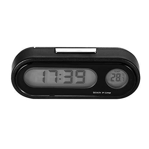 2 en 1 Reloj del Tablero del Coche con Termómetro Digital Automático...