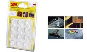 3M Bumpon butoire en plastique, transparent, rond, diamètre: 7,9mm