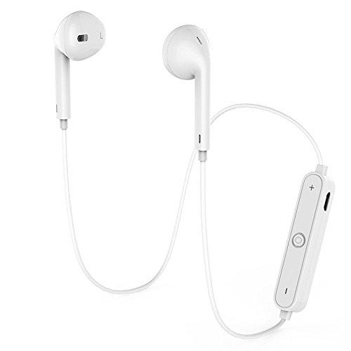 Bluetooth KopfhöRer, QualitäTs-Drahtlose KopfhöRer Bluetooth V4.1 Earbuds Mit Mic-StereokopfhöRern Turmoil Cancelling Sweatproof Divertissement-KopfhöRer FüR Iphone X 8 7 Extra Samsung-Galaxie S7 S8 S9 Und Android-Telefone