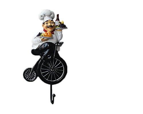 Crochet Mural Vintage Design Decoratif Porte Clés Original chef pennyfarthing cuisine