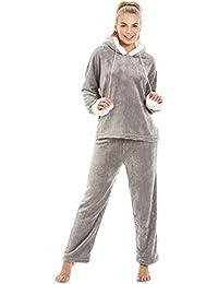 Pyjama à Capuche en Polaire Ultra Douce - Femme