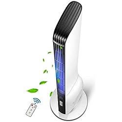 Lxn Ventilateur à tour vertical télécommandé, ventilateur silencieux à circulation d'air économe en énergie sans pale de ventilateur