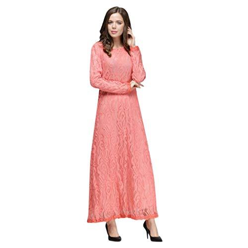 PorLous Muslim Langer Rock, Frau Kleiden Lose Normallack-Robe-Kleidung Abaya Islamischer Arabischer Kaftan Drucken Stickerei Lose ()