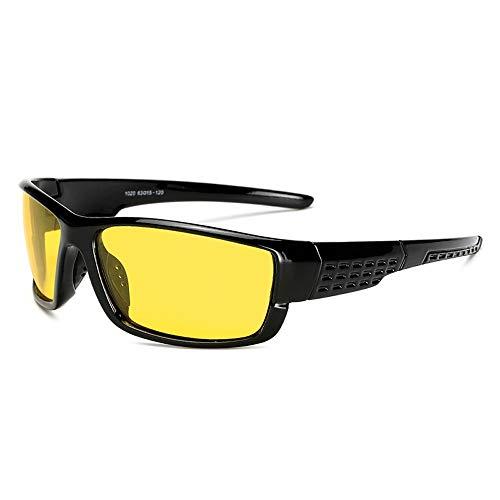 Gläser Radfahren Brille Sonnenbrille Outdoor-Schutz Bike Eyewear Polarisierte Sport-Sonnenbrille for Männer und Frauen Baseball YHWCUICAN (Color : Gelb, Size : Kostenlos)