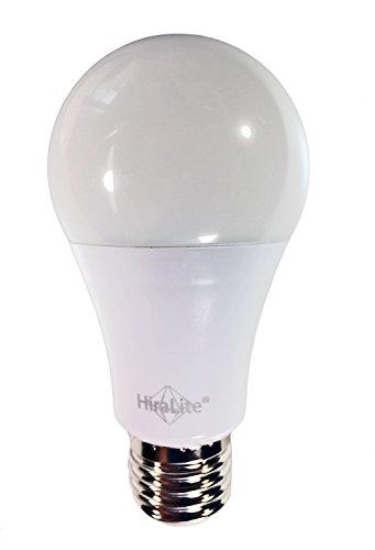 HiraLite LED 11W Vollspektrum Tageslichtlampe 5000K/Ra95, dimmbar. Flimmerfreie Brillante Lichtqualität dank neuer innovativer Technologie. Idealer Ersatz für 60W Glühbirne.