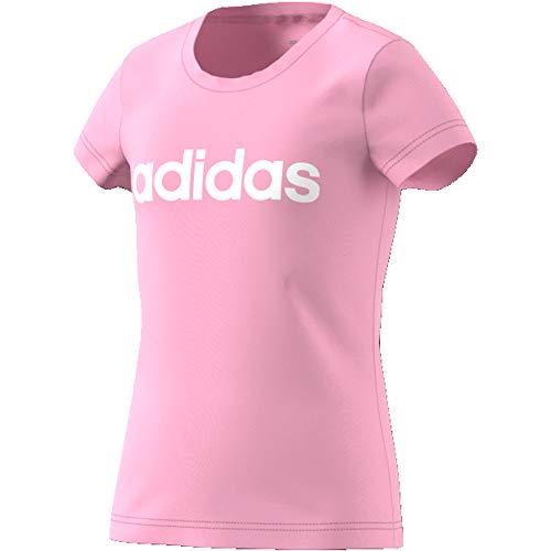 adidas Mädchen Essentials Linear T-Shirt, Rosaut/Blanco, 170 -