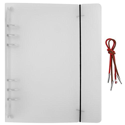 Lose Blatt Notizbuch Abdeckung, 6 Löcher Klar Weichem PVC Notebook Runde Ring Binder, A5 / A6 / A7 Lose Blatt Ordner Sammelalbum Fotoalbum(A5)