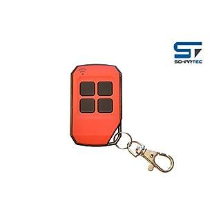 Universal Handsender 433,92 MHz in 4 verschiedenen Farben von Schartec - Funk Fernbedienung 433 MHz - Garagentoröffner 433.92 MHz für Garagentorantrieb (rot)