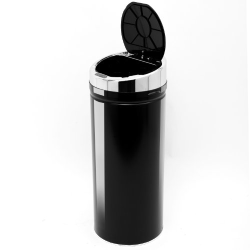 Price comparison product image Homcom 42L LUXURY Automatic Sensor Dustbin Kitchen Waste Bin Rubbish Trashcan Auto Dustbin Stainless Steel with Bucket Black 30.5*30.5*76.5CM