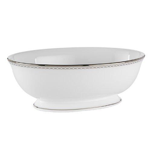 Lenox Pearl Platinum Bone China Open Vegetable Bowl by Lenox Lenox Pearl Platinum Bone China