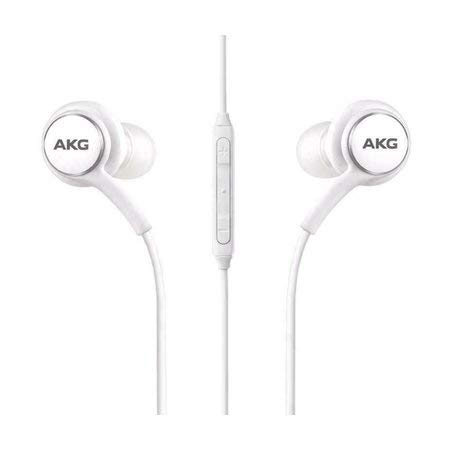 ShirazO New AKG Headset by Headphone, Earphone for Samsung Galaxy S10 S10+ S10plus,Galaxy S9 S9 Plus S9 Duos S9 Duos+ S8 S8 Plus S8 Active S7 S7 Edge S6 S6 Edge A8 2018 A8 Plus Note 8 Black (White)