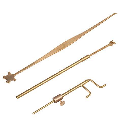 Moligh doll Geigen Bau Werkzeuge Sound Post Gauge Measurer Retriever Clip Set Violine Teile & Zubeh?r