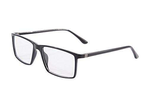 SHINU Schlanke Rahmen Lesebrille Anti-blaue Licht Brillen 1.56 Linsen-9195 (Brille Männer Rezept)