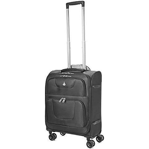 viajes Aerolite Ryanair 55x40x20cm MAX CAB peso ligero en el equipaje de mano ruedas Maleta Spinner 8, aprobada por Ryanair, Easyjet, British Airways, Virgin Atlantic, Flybe y muchos otros, 21