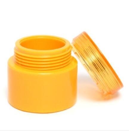 Bluelover 5G Plastique Vide Jar Pot Cosmétiques Crème Lotion Bouteille Couvercle Récipient Boîte - Jaune