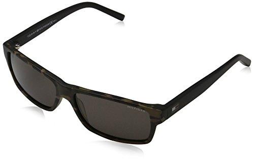 Tommy Hilfiger Unisex-Erwachsene Sonnenbrille TH 1042/N/S NR, Schwarz (Pttrnbrw Blk), 57 Preisvergleich