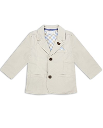 The Essential One - Baby Kids Boys Twill Blazer - Bailey Bear - 3-6 Months - Beige - EOT207