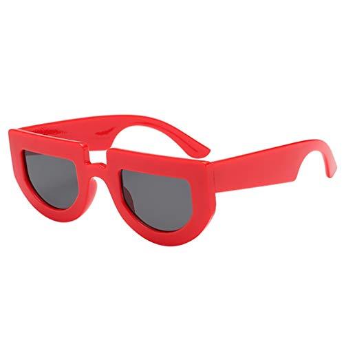 Dorical Vintage Brille für Unisex/Damen Herren Mode Sonnenbrille Unregelmäßige Form Brillen Retro Brille PC Frame Brille Dekobrillen/Valentinstag Brille für Frauen Männer Promo